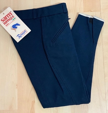 Immagine di PANTALONI BIMBO JUNIOR BLU NO GRIP SARM HIPPIQUE