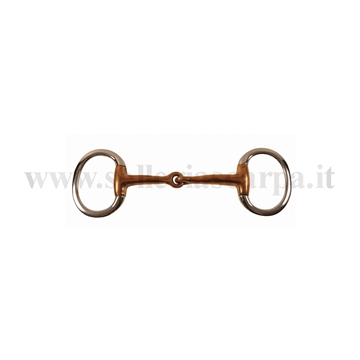 Immagine di FILETTO OLIVA SNOD. INOX PIENO IMB. 17 MM IN RAME MO00022B