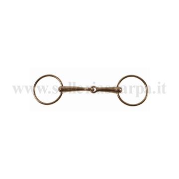 Immagine di FILETTO PONY ANELLI PIENO SNOD. FERRO CROMATO 16 MM MO00004