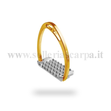 Immagine di STAFFE ALLUMINIO PLUS BACK  con pedana FORCE EQUITALY PLUSBACKFORCE