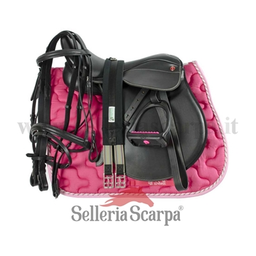 Immagine di SET SELLA INGLESE COMPLETA PRO LIGHT FUCSIA NEING1NEW024
