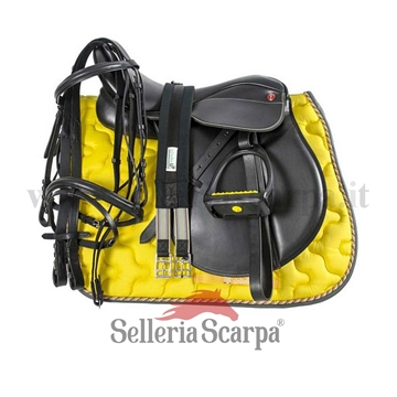 Immagine di SET SELLA INGLESE COMPLETA PRO LIGHT GIALLO NEING1NEW007