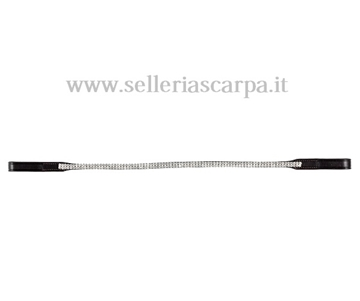 Immagine di FRONTALINO TATTINI SOTTILE 2 FILE STRASS 1501299