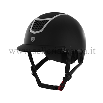 Immagine di CASCO ECLIPSE PLAIN BLACK\GREY MATT EQUESTRO ETU00003